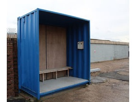 Shipping Container Smoking Shelters